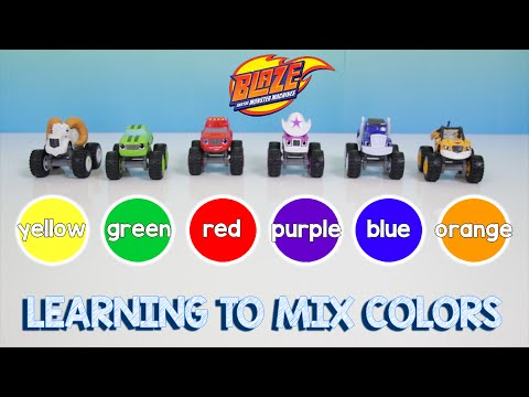 Blaze and the Monster Machines Learn Colors and Counting Skittles | Mixing Color Learning Video