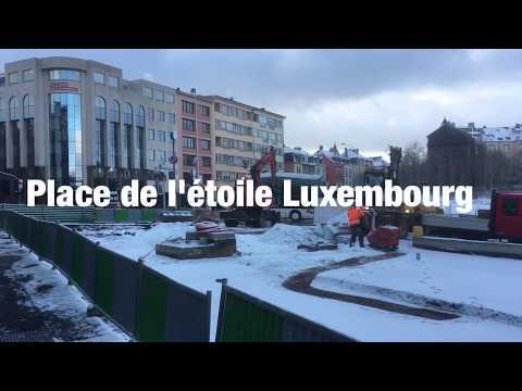 Chantier du tramway / Place de l'étoile / Luxembourg