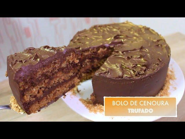 BOLO DE CENOURA AMERICANO TRUFADO #510   Receitas da Mussinha