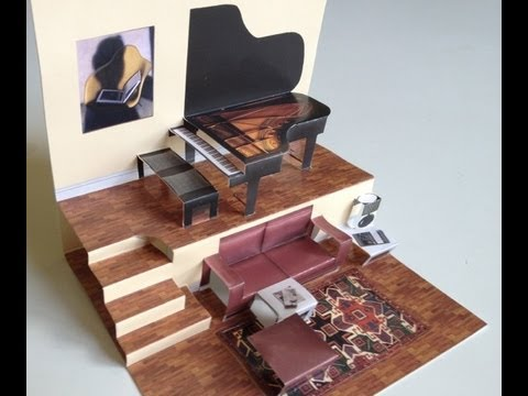 Pop Up Living Room With Grand Piano
