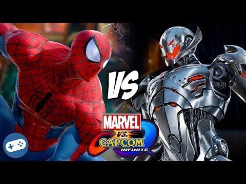 Spider-Man VS Ultron Marvel vs Capcom Infinite Gameplay - 동영상