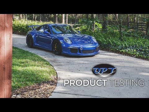 Testing Optimum Car Soap, Spray Wax, Glass Cleaner, Tire Dressing on GT3