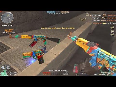 Crossfire 20 : Combo AK47 Graffiti + Cop357 Graffiti  Hero Mode X  Rua Ngao  Zombie V4