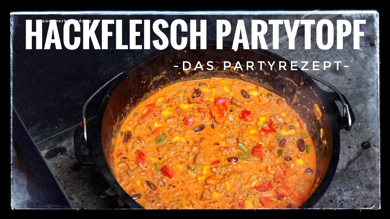 Hackfleisch Partytopf aus dem Dutch Oven perfekt für Silvester /Partyrezept  / I The BBQ Bear I