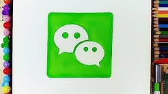 How to Draw the WeChat Logo | Messaging and Calling App
