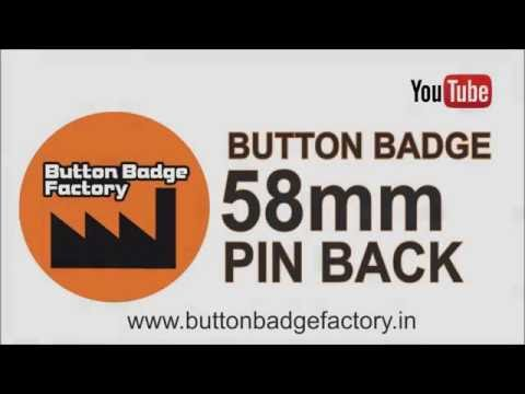 58mm pin back button badge