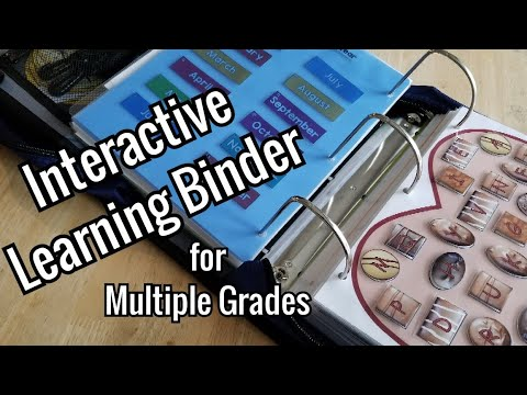 Interactive Learning Binder For Multiple Grades Using Free Printables