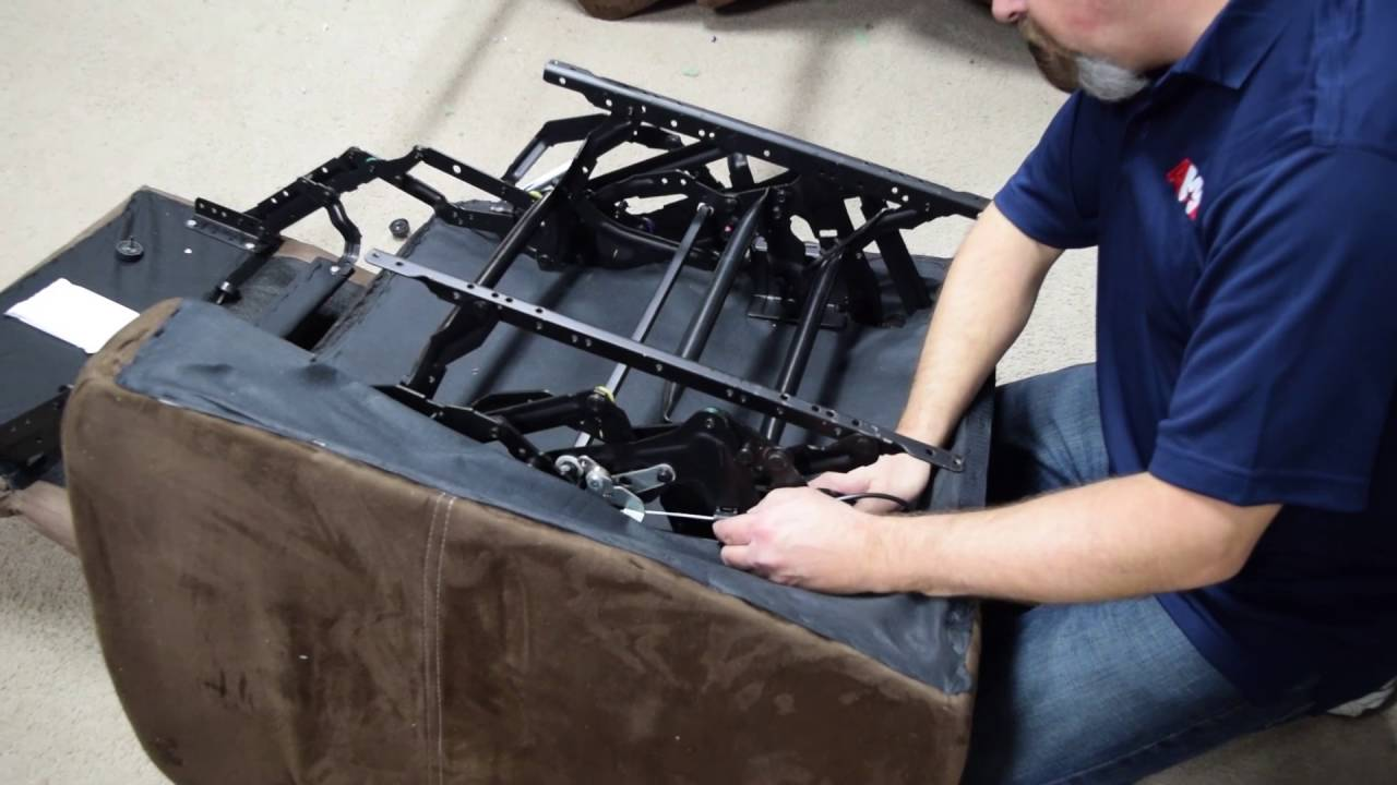 how to remove and re install a reclining mechanism