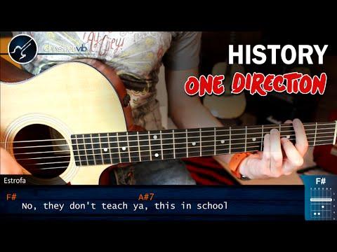 Como tocar History ONE DIRECTION en Guitarra Acustica | Version Original