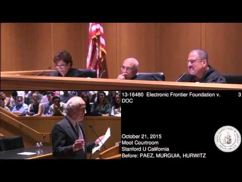 13-16480 Electronic Frontier Foundation v. DOC