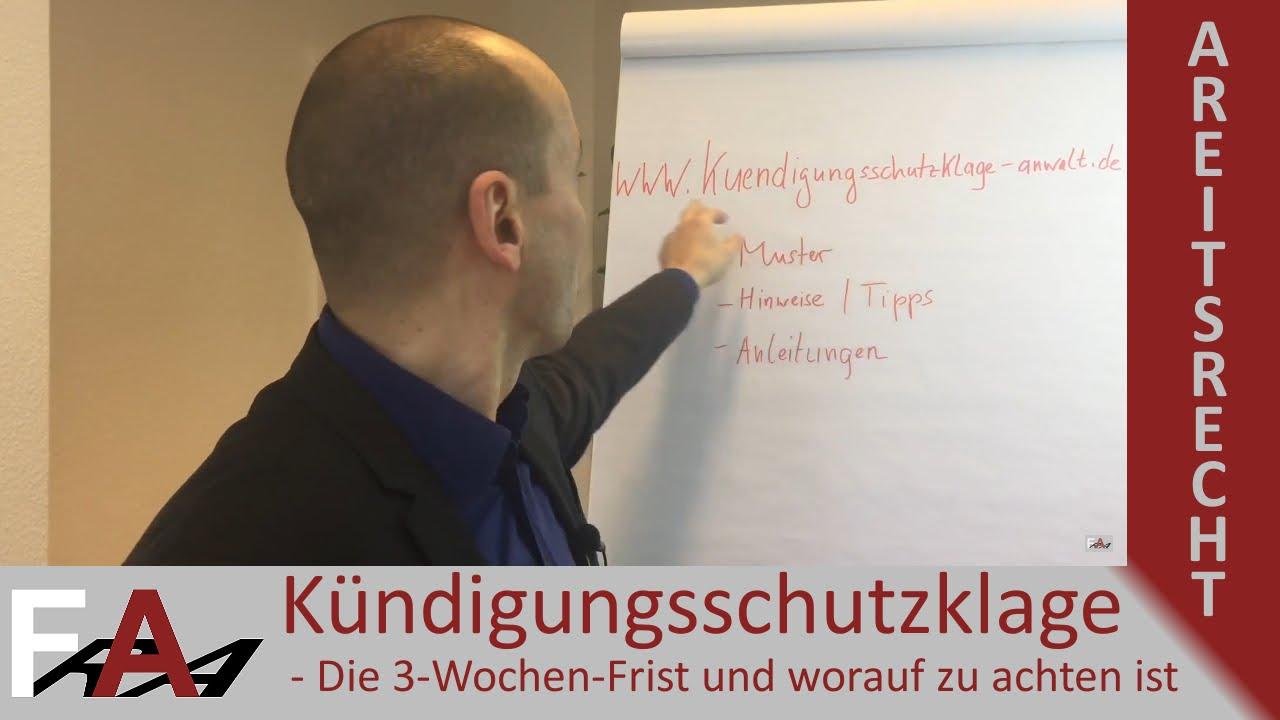 Kündigungsschutzklage Die 3 Wochen Frist Und Worauf Zu Achten Ist