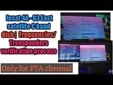 Insat 4A - 83 East satellite C band dish |Tamil air free channel details  with lyngsat website revie