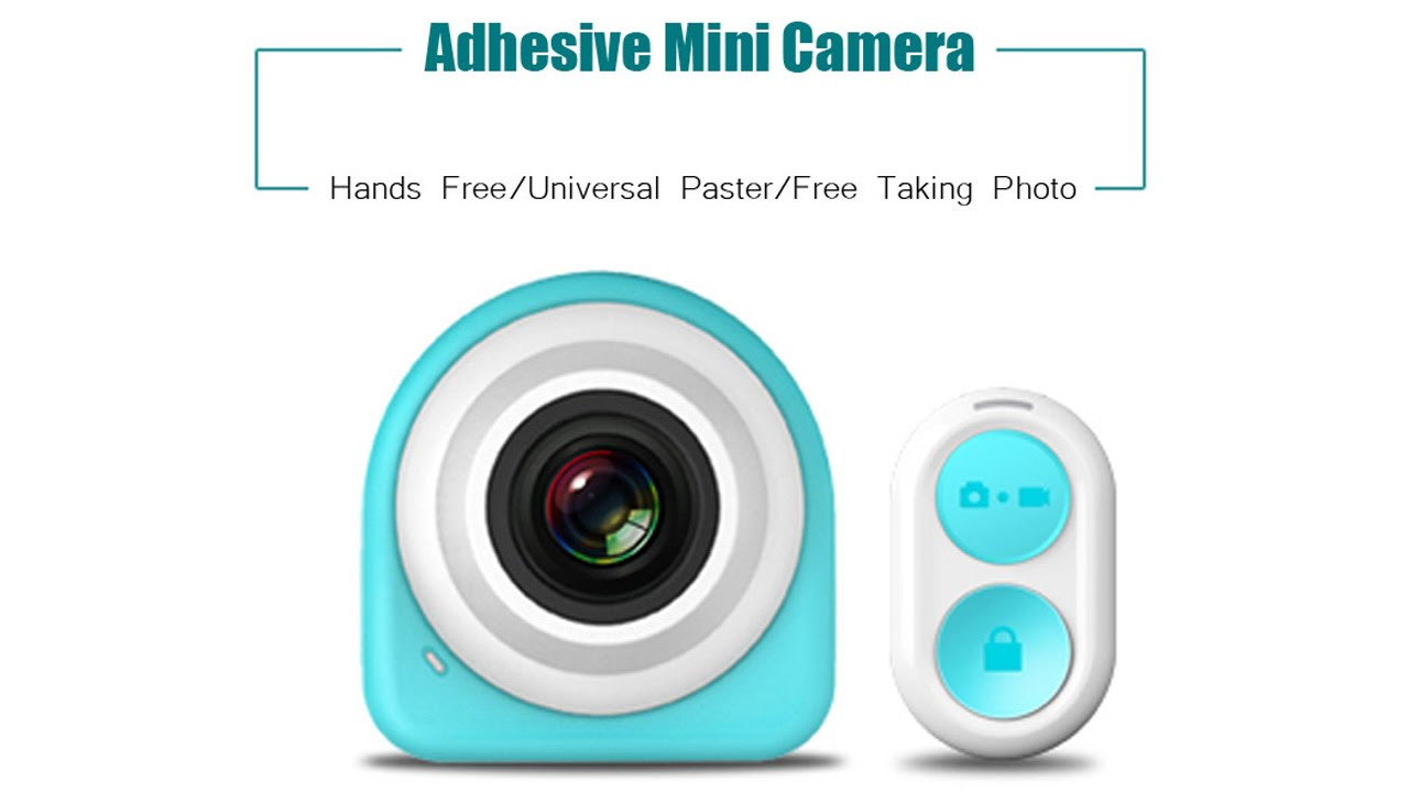 Smart 1080P HD Adhesive Mini WiFi Camera review - Gearbest.com - YouTube