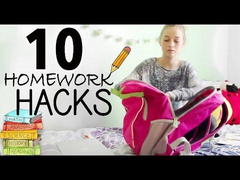 10 Study & Homework Hacks | Evelyn & Titi