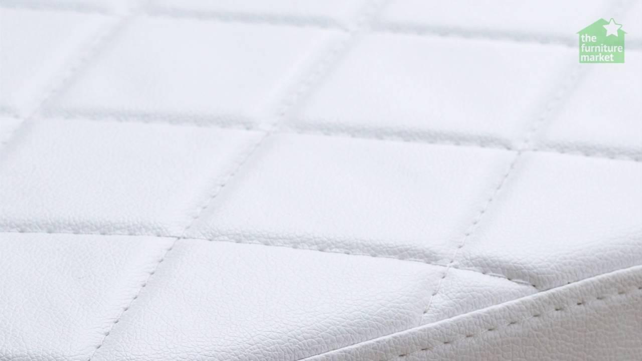 White High Gloss Dressing Table Stool