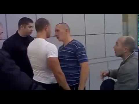 two men fighting russians