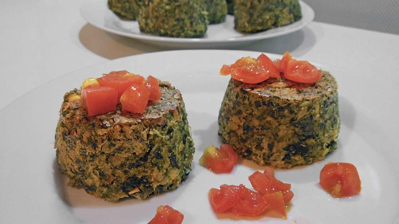 cucina gustosi tortini di cicerchie e spinaci fai da te cibo bevande guidecentral