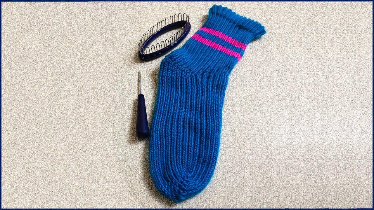 вязание носков на приспособлении носки на приспособлении вязание