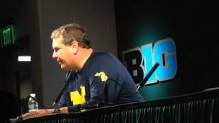 Video: Michigan coach Brady Hoke assess loss to Michigan State, addresses pregame spear incident
