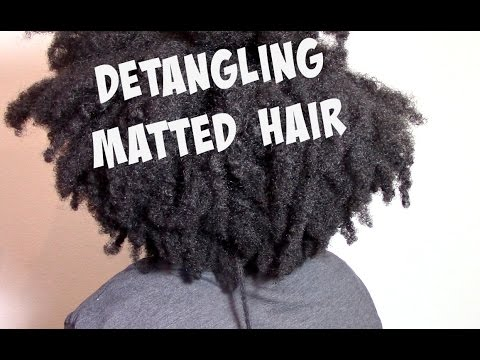 Detangling Matted Tangled Dry Natural Hair Youtube