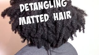 DETANGLING MATTED TANGLED DRY NATURAL HAIR