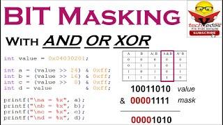 What is Bit Masking | How to apply Bit Masking | Types of Bit Masking