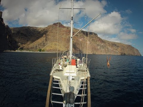 Aqua park on La Gomera |  jump from the...