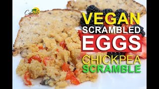 How to Make Scrambled Eggs (Vegan) Healthy Chickpea Scramble Breakfast