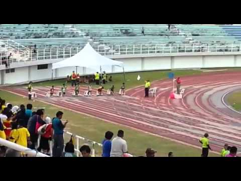 haiqal acara 100 meter mssr daerah miri 2016
