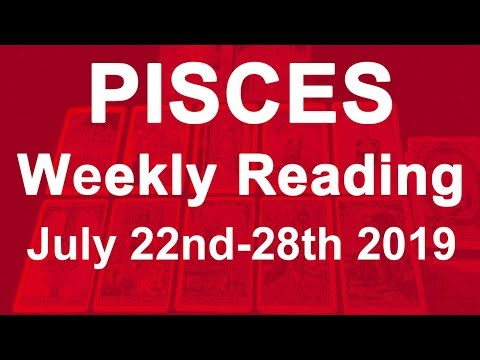 pisces weekly 22 to 28 tarot march 2020