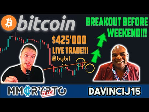 BITCOIN BREAKOUT BEFORE WEEKEND!!! $425'000 LIVE DavinciJ15 BTC TRADE On BYBIT!!!