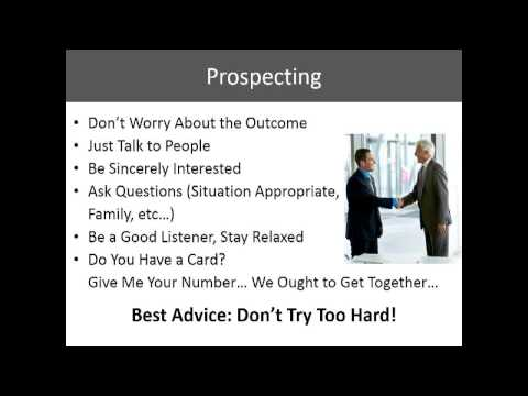 2013 08 14 How to Be Better At Prospecting Inviting Recruiting