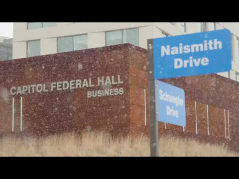First snowfall in Capitol Federal Hall
