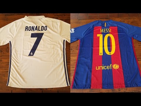 watch 32a81 7c22c Messi and Ronaldo Jerseys (Barcelona and Real Madrid)