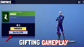 FORTNITE GIFTING RELEASE DATE SOON! (Live gameplay of gifting process)