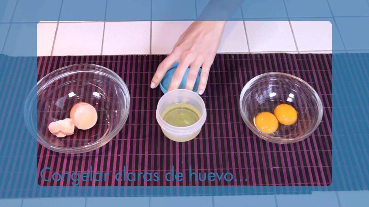 se pueden congelar las claras de huevo