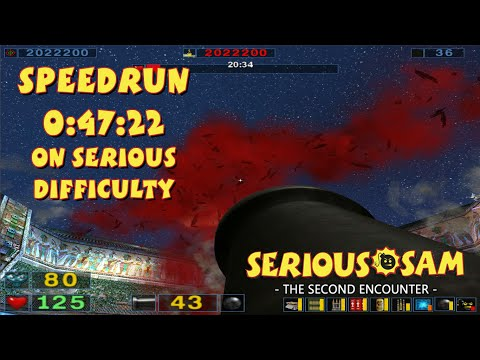 Serious Sam: The Second Encounter - SpeedRun - 0:47:22 (Serious Difficulty)