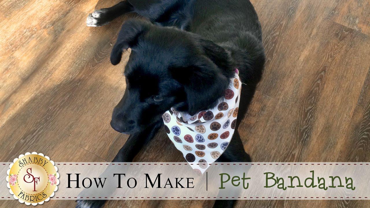 How to make a pet bandana a shabby fabrics sewing tutorial youtube jeuxipadfo Gallery