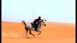 التدريب على القوس والسيف على سرعات عالية #قوس #الحصان_العربي #حسان_الجهني