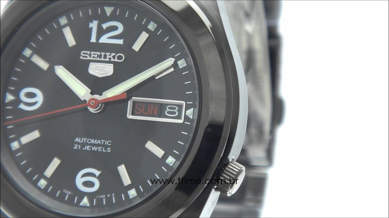 8758882577c Relógio Seiko 5 Automatic 21 Jewels 7S26DU 1 YouTube