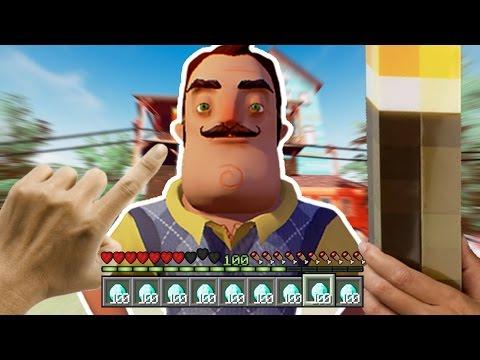 Realistic Minecraft - REALISTIC HELLO NEIGHBOR IN MINECRAFT !? - (Minecraft Roleplay)