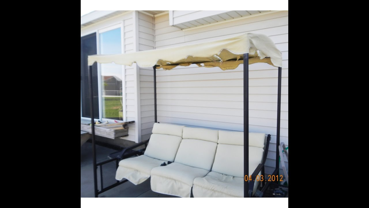 Nice Menards Patio Swing Cushions, Seat Support And Canopy Fabric Replacement