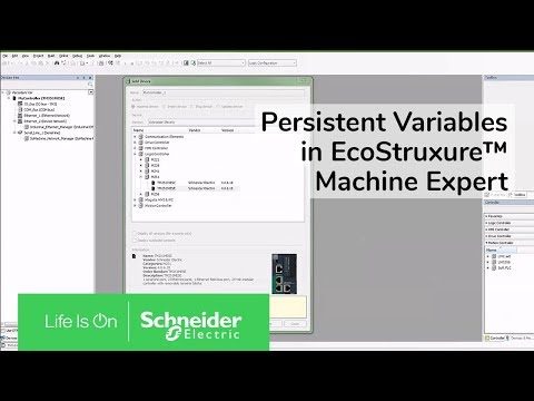Creating Persistent Variables in EcoStruxure™ Machine Expert | Schneider  Electric Support