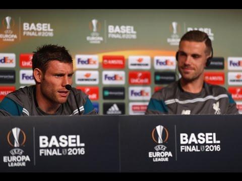 Liverpool vs. Sevilla - Europa League Final: Jordan Henderson & James Milner Press Conference