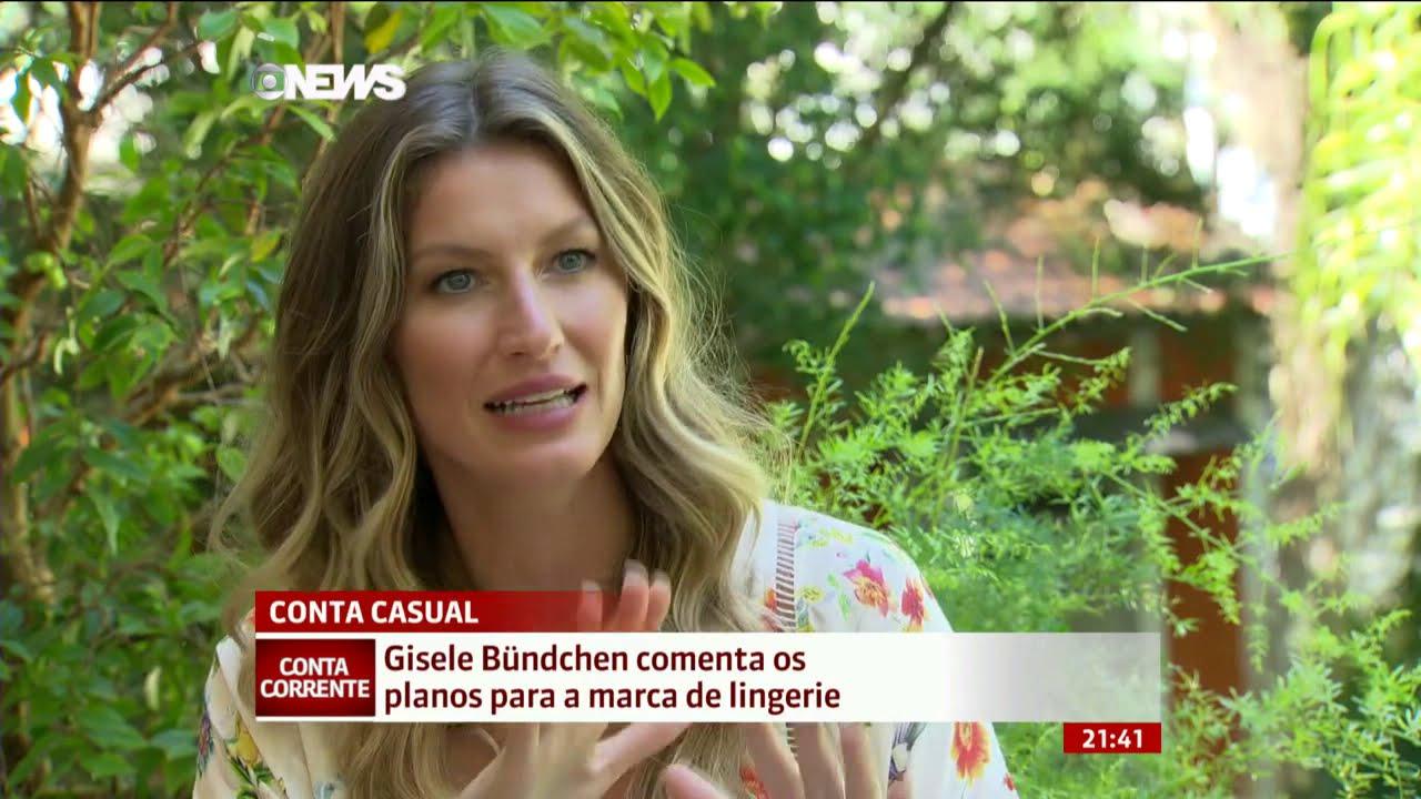 Gisele Bündchen fala sobre os planos para sua marca de lingerie