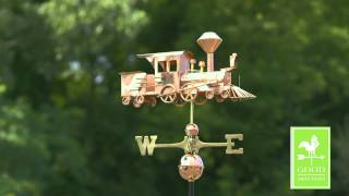 Good Directions 553p Locomotive Weathervane - Polished Copper