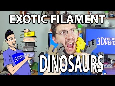 3D Printing Dinosaurs! Carbon Fiber, Stainless Steel, Bronzefill filaments!