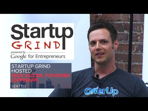 Nick Huzar (OfferUp) at Startup Grind Seattle