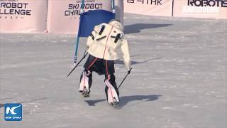 Robot skiers tackle