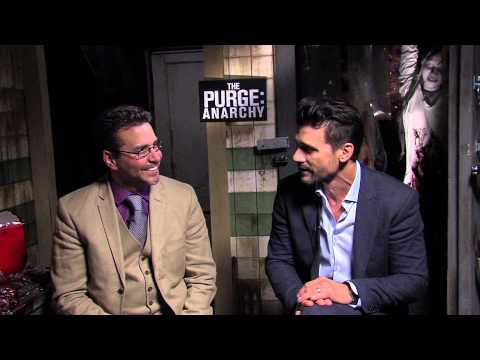 The Purge: Anarchy (2014) Exclusive: James DeMonaco And Frank Grillo (HD) Frank Grillo, Carmen Ejogo